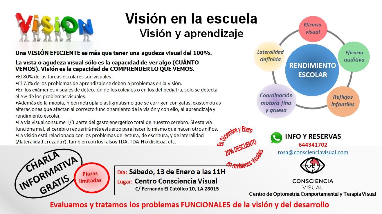 campaña la visión en la escuela poster